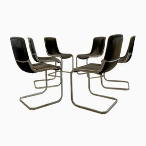 Dining Chairs by Willy Rizzo for Cidue, 1970s, Set of 10