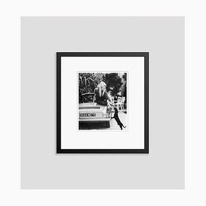 Bardot with Dachshund Archival Pigment Print Framed in Black by Bettmann