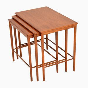 Danish Nesting Tables by Grete Jalk for Poul Jeppesens Møbelfabrik, 1950s, Set of 3