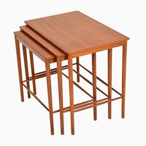 Tables Gigognes par Grete Jalk pour Poul Jeppesens Møbelfabrik, Danemark, 1950s, Set de 3