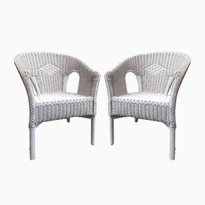 Rattan Armchairs, 1980s, Set of 2