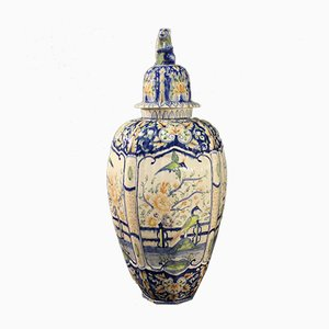 Bemalte italienische Keramikvase