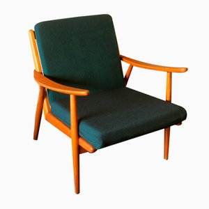 Scandinavian Oak Lounge Chair 1950s