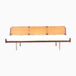Mid-Century Danish Teak and Cane Daybed by Hans J. Wegner for Getama, 1960s
