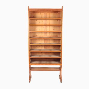 Bookcase Solid in Patinated Pine by Martin Nyrop for Rud Rasmussen, 1950s