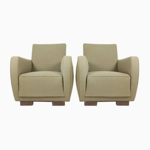 Mid-Century Lounge Chairs, 1940s, Set of 2