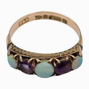 Viktorianischer Ring aus Amethyst & Opalglas von Pendleton & Sons, 1887
