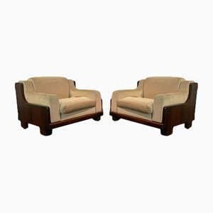 Rosewood Lounge Chairs, 1970s, Set of 2