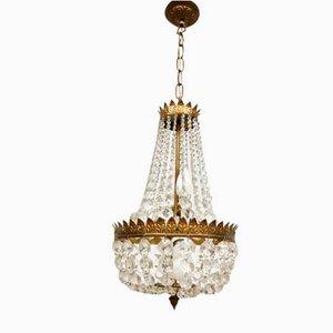 Vintage Belgian Gold Gilded Chandelier