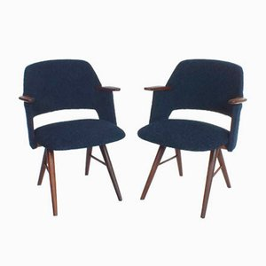 Dark Blue FT30 Chairs Set by Cees Braakman for Pastoe