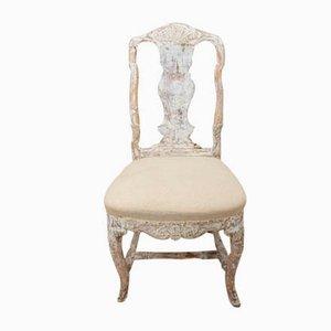 Schwedischer Stuhl aus dem 18. Jahrhundert in Originalfarbe