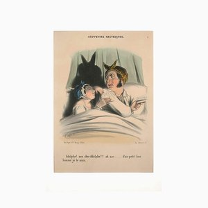 Frederic Bouchot - Souvenirs Grotesques - Original Lithograph and Pochoir - 1835