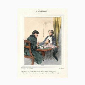 Paul Gavarni (Guillaume Sulpice Chevalier) - Les Enfants Terribles - Lithograph - 1838/1842