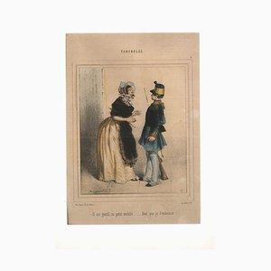 Unknown - Fariboles - Original Lithograph by Unknown French Artist - 1800