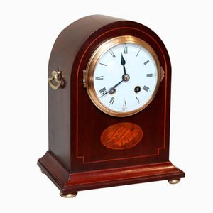 Mahogany Arch Top Mantel Clock