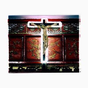 Neon Cross, Ho Chi Minh City - Photographie religieuse contemporaine en couleur 2016
