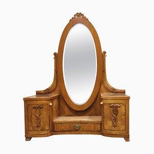 Antique Hallway Tilt Mirror Cabinet, 1920s