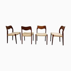 Model 71 Dining Chairs by Niels Otto Møller, 1960s, Set of 4