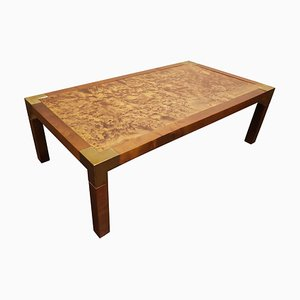 Vintage Burl Wooden Coffee Table, 1970s