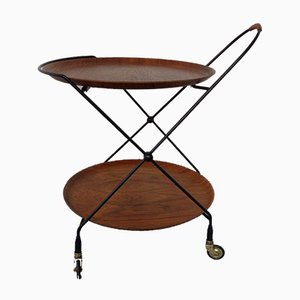 Mid-Century Metal and Glass Serving Bar Cart, 1960s