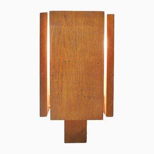 Oak Table Lamp, 1960s