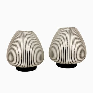 Lampes de Bureau Vintage en Verre Murano de La Filigrana, 1980s, Set de 2