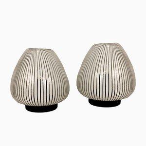 Vintage Murano Glas Tischlampen von La Filigrana, 1980er, 2er Set