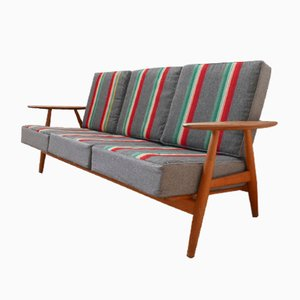 Mid-Century Model 240 Cigar Sofa by Hans J. Wegner for Getama