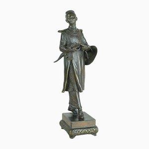Coccodrillo cinese Au in bronzo, H De Rare Model Galy, XIX secolo