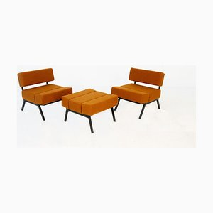 Lounge Chairs by Rito Valla for IPE, 1960s, Set of 3