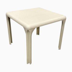 Table de Salle à Manger Selene Blanc Cassé par Vico Magistretti pour Artemide, 1970s