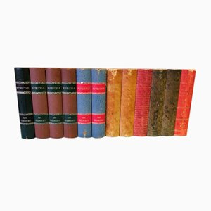 Antique Decorative Books, Set of 2