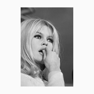 Brigitte Bardot Archival Pigment Print Framed in White by Bettmann