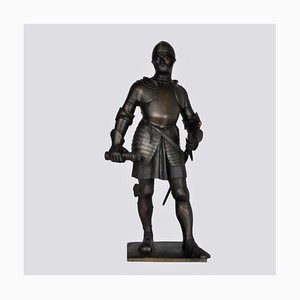 Lenz, Bronze Ritter in Rüstung, spätes 19. oder frühes 20. Jahrhundert