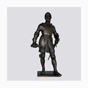 Lenz, chevalier en bronze en armure, fin XIXe ou début XXe siècle