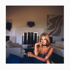 Britt Ekland Framed in White by Slim Aarons