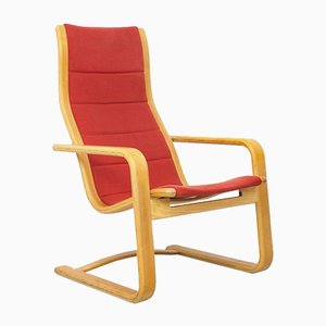 Orangefarbener Armlehnstuhl von Yngve Ekström für Swedese, 1970er