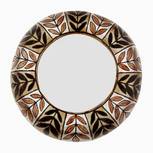Ceramic Wall Mirror by Jean-Claude Malarmey, France, 1970s