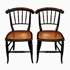 Regency Cane Side Chairs, Set of 2