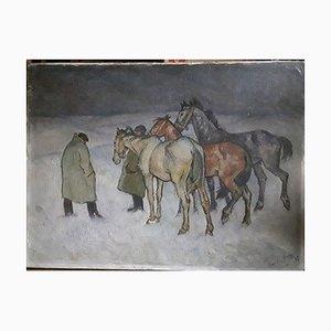 Harold Bengen, Pferdehandel, 1929, Malerei