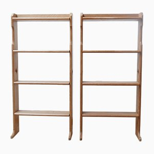 Mid-Century French Small Bookcases or Shelving by Guillerme et Chambron, Set of 2