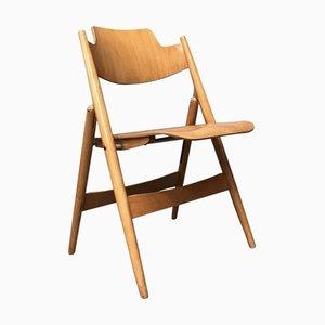 Klappstuhl aus Holz von Egon Eiermann für Wilde + Spieth, 1960er Jahre