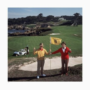 Golfing Pals Framed in White by Slim Aarons