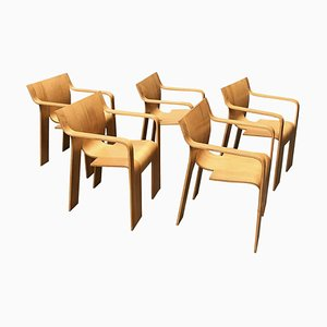 Stackable Bentwood Dining Chairs by Gijs Bakker for Castelijn, 1980s, Set of 5