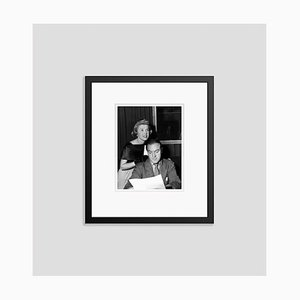 Doris Day & Bob Hope Run Through a Radio Script Archival Pigment Print Framed in Black by Everett Collection