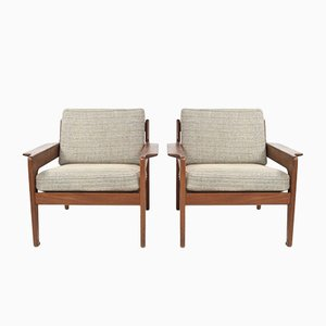 Lounge Chairs by Arne Wahl Iversen for Komfort, 1960s, Denmark, Set of 2