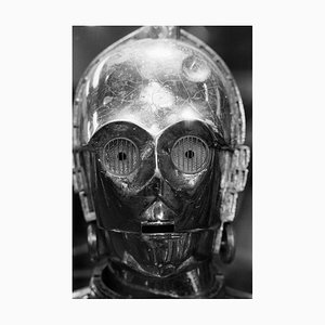 C3PO Archival Pigment Print Framed in White by Geoff Wilkinson