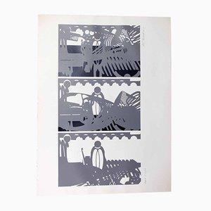 Jürg Keller, Jardin du Sud, 1972, Lithographie
