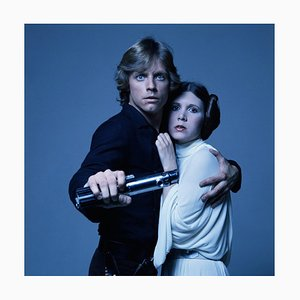 Luke and Leia Framed in White by Terry O'Neill