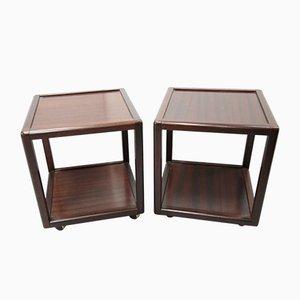Mid-Century Mahogany Side Tables, 1970's, Set of 2